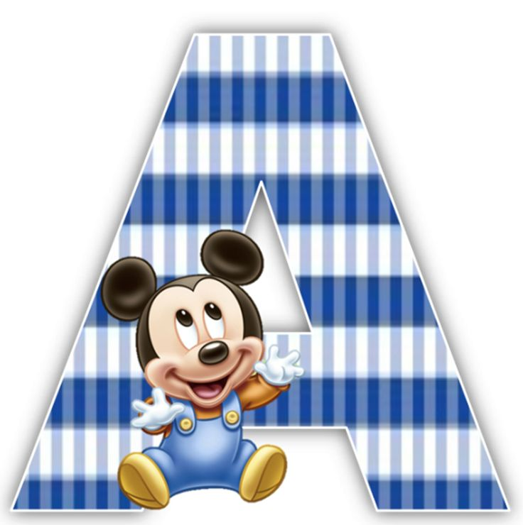 Baby Mickey Mouse 1st Birthday Party Alphabet & Numbers