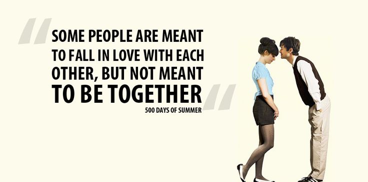 Image result for 500 days of summer some people are meant
