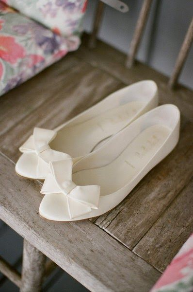 Bridal shoes for those who don't want to wear heels. Not as sexy, but oh so comfortable!