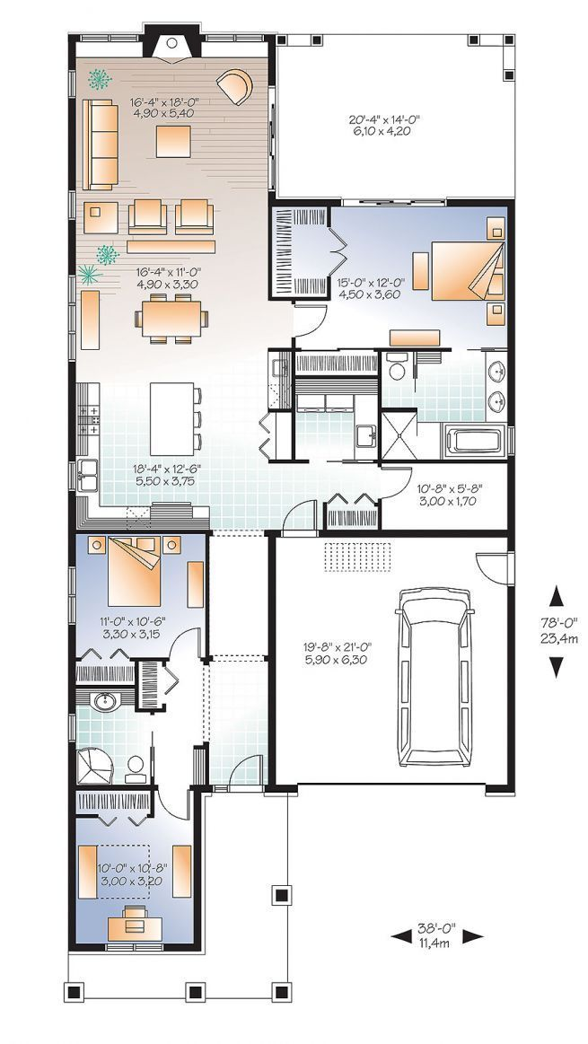2184 best floor plans images on pinterest house template for Open floor plan craftsman