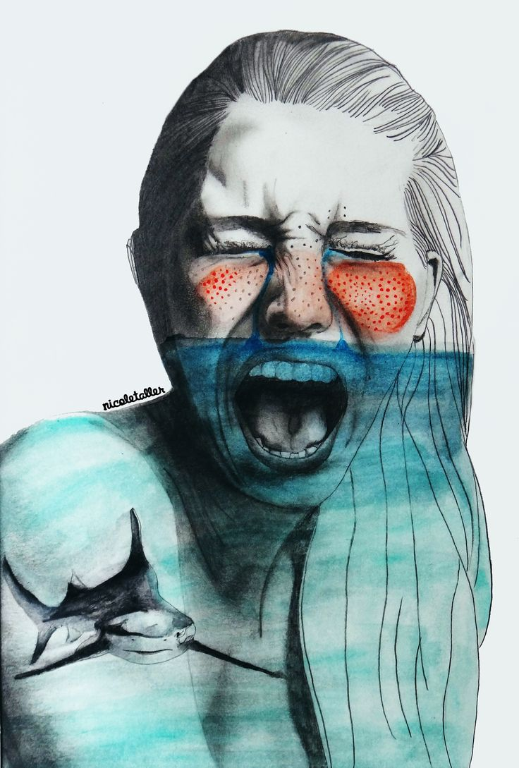 """""""Me ahogo en mi"""" ilustrado por Nicoletaller"""
