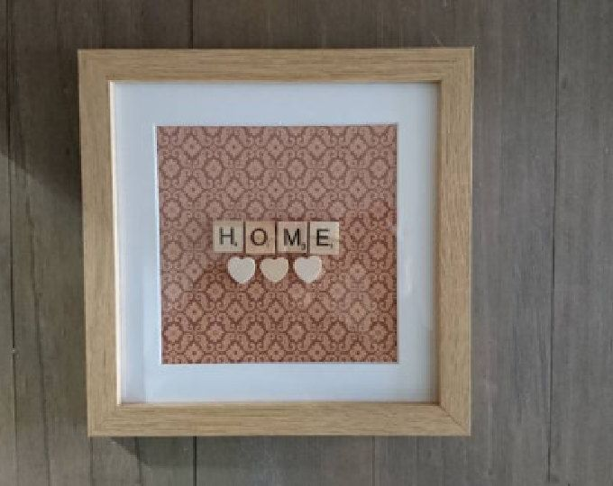 New home present, housewarming gift, Scrabble art, Home decor, Decor, Wall art, Home, Art, Personalised, New Home gift, New Home