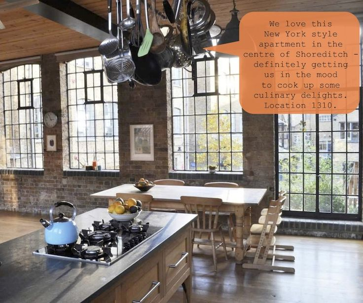 Location 1310 jamie oliver loft apartment industrial for Jamie oliver style kitchen design