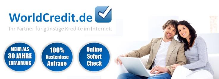 Auf WorldCredit.de können sie den Kredit ohne Schufa & Kredite zu günstigen Konditionen online beantragen.