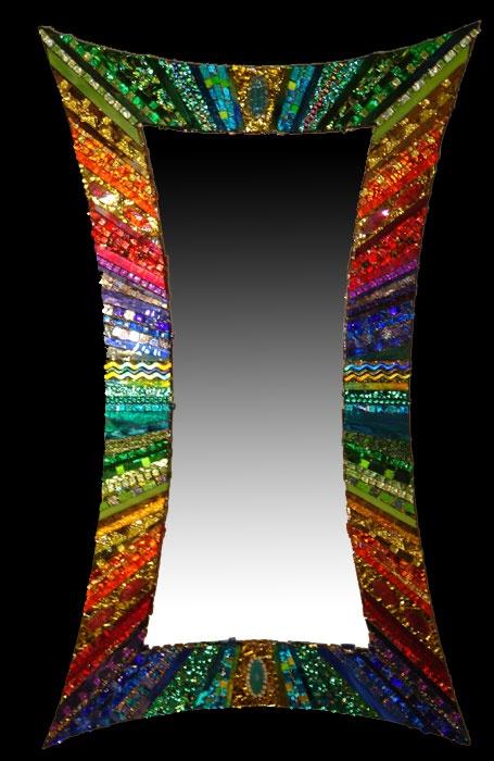 Beautiful mosaic mirror. Mosaics by Joanie Andrea Callen Unique and Distinctive Mosaic Creations