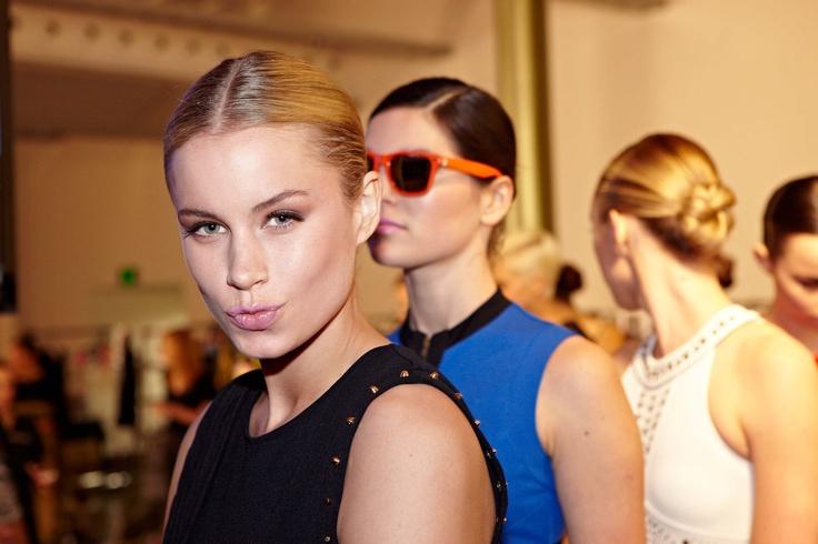 pretty pink Revlon lips backstage at Bardot parade @ 30days of Fashion & Beauty