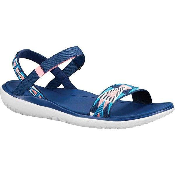 Teva Women's Terra Float Nova Sandal ($50) ❤ liked on Polyvore featuring shoes, sandals, fondant pink, teva footwear, teva, pink sandals, velcro closure shoes and velcro strap shoes