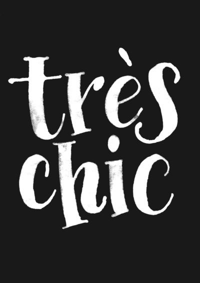 Tres Chic~ An expression that something is in style and\or desirable.