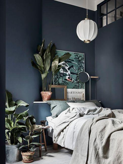 Chambre déco bleue