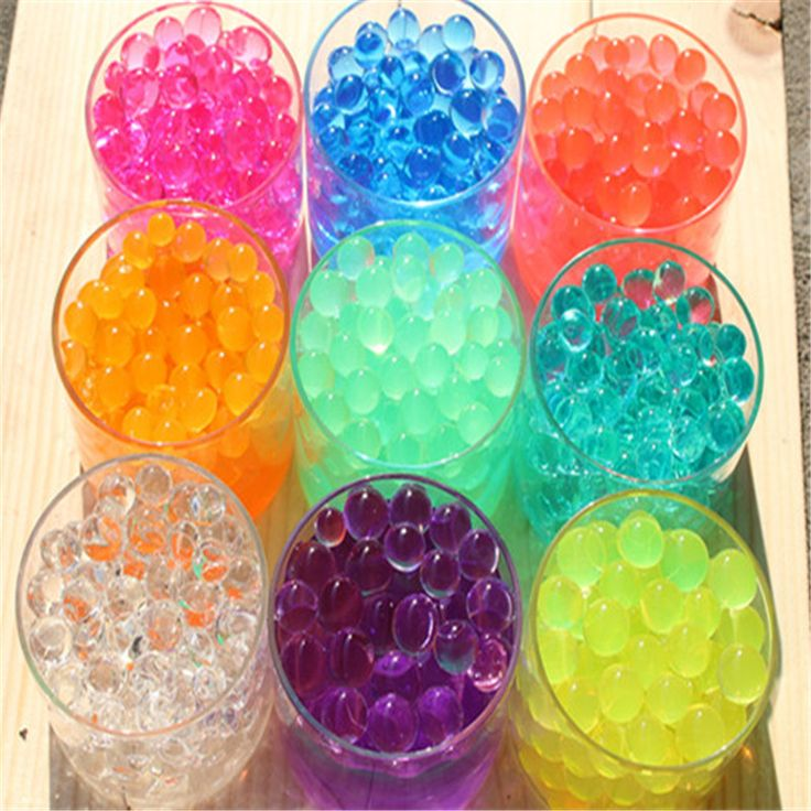 500 PCS Colorful Crystal Bullet Soft Water Gun Paintball Bullet Bibulous Bullet Orbeez Gun Toy Nerf Accessories Most Pistol