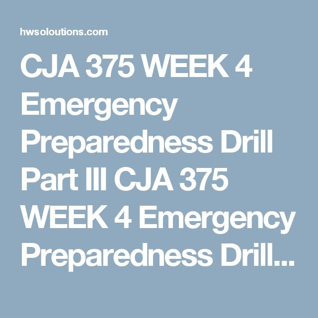 CJA 375 WEEK 4 Emergency Preparedness Drill Part III CJA 375 WEEK 4 Emergency Preparedness Drill Part III CJA 375 WEEK 4 Emergency Preparedness Drill Part III Create a 350- to 700-word outline of the final three parts of your learning team's executive summary for review as part of the emergency management scenario. The outline should cover:  Resource demobilization strategies The restoration stage. The recovery approach to the North River flood emergency management scenario. The summary…