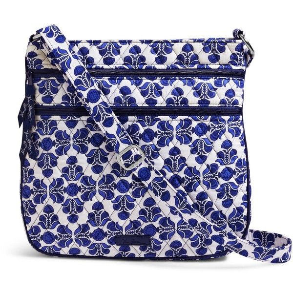 Vera Bradley Triple Zip Hipster in Cobalt Tile ($58) ❤ liked on Polyvore featuring bags, handbags, cobalt tile, blue cross body purse, crossbody handbags, blue crossbody purse, vera bradley and blue crossbody