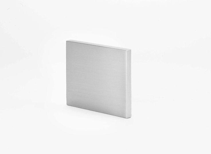 Silver flat aluminium. Square design. 95cm width, length 80cm