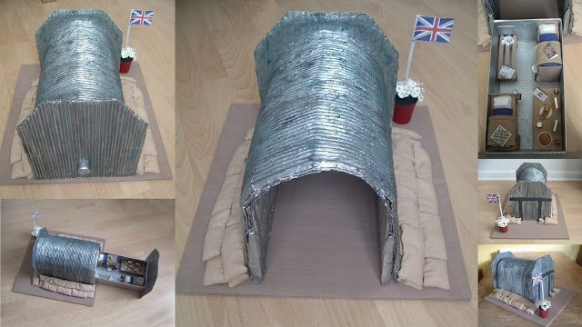 Nothing Is Impossible........: Model of a WWII Air Raid Shelter