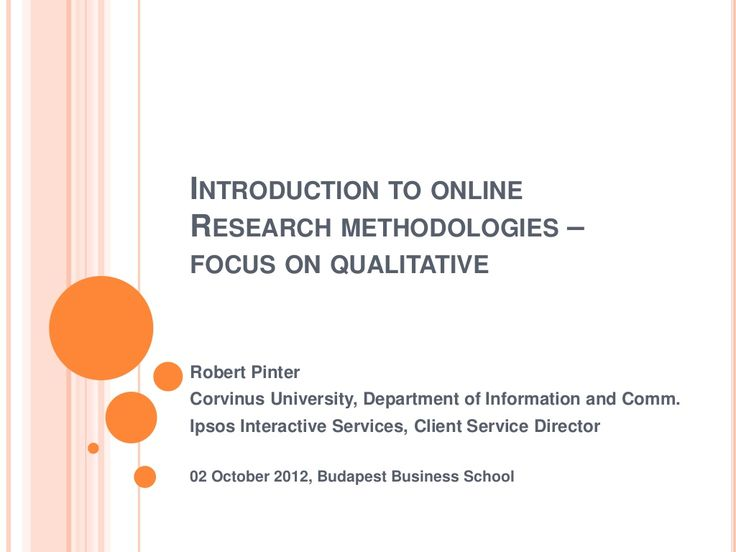 Introduction to online qualitative research methods