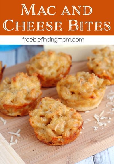 Mac and Cheese Bites - Here's a fun twist on an old favorite, mac and cheese bites. If you need tailgating food ideas or just want a yummy complement to tonight's dinner give this cheesy goodness a try.