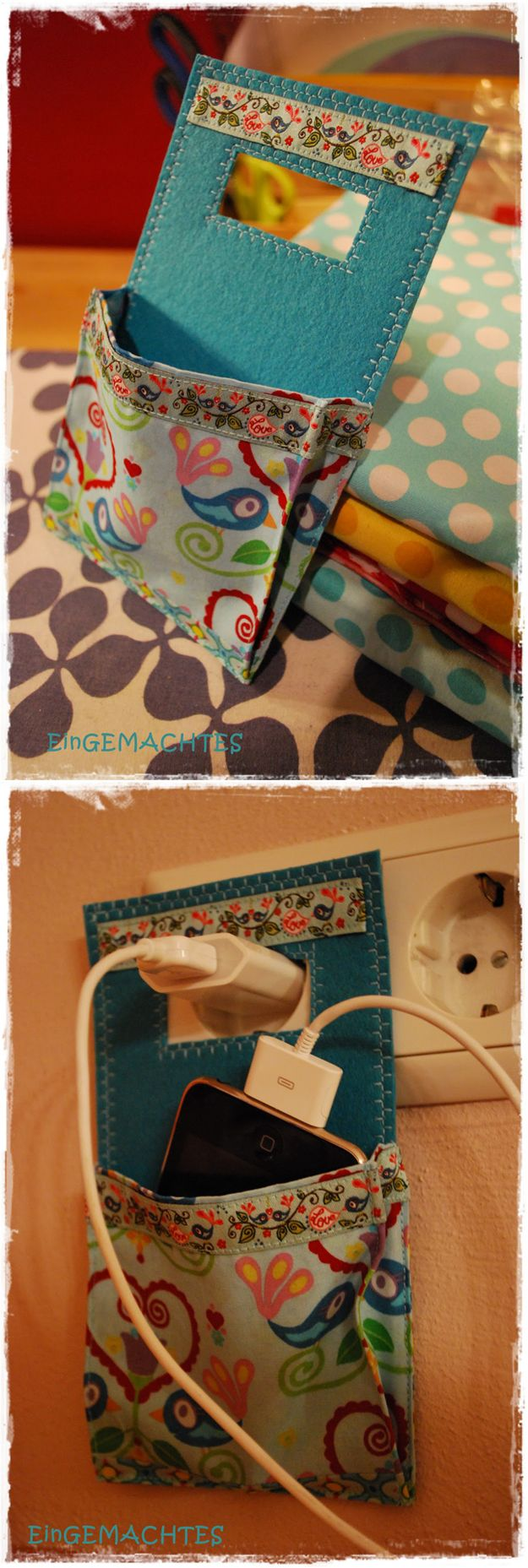 DIY Crafts Phone Charger Holder