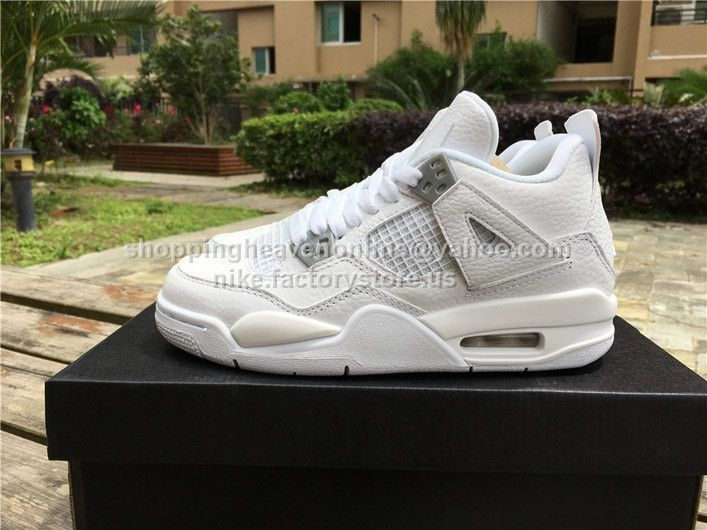 b0050584d479be Air Jordan 4 Retro BG Pure Money GS White 408452-100 36-40