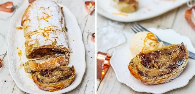 Spiced pear and chocolate strudel | Food24