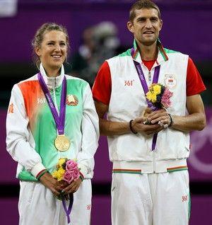 Azarenka e Max Mirnyi Olimpíadas Londres 2012 Tênis (Foto: Getty Images)
