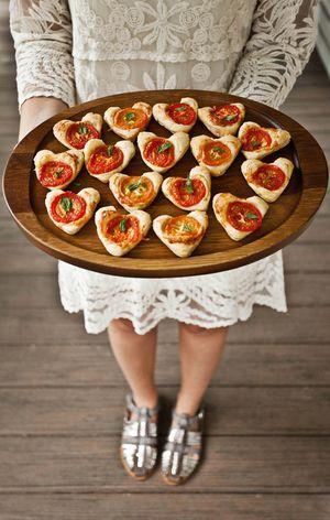 // mini cheddar tomato tarts