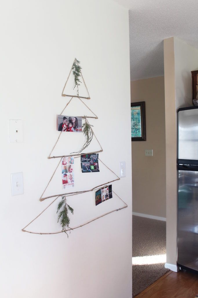 Merry Mail Tree Displaying Christmas Cards | Hometalk: Design on a ...