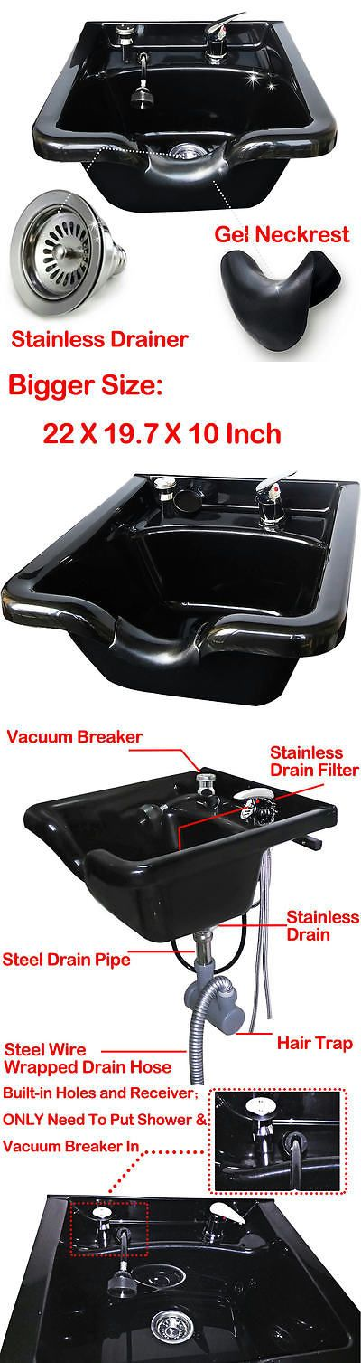 Backwash Units and Shampoo Bowls: New Upgrade Top Pp Beauty Salon Barber Shop Equipment Plastic Shampoo Bowl Sink BUY IT NOW ONLY: $74.99