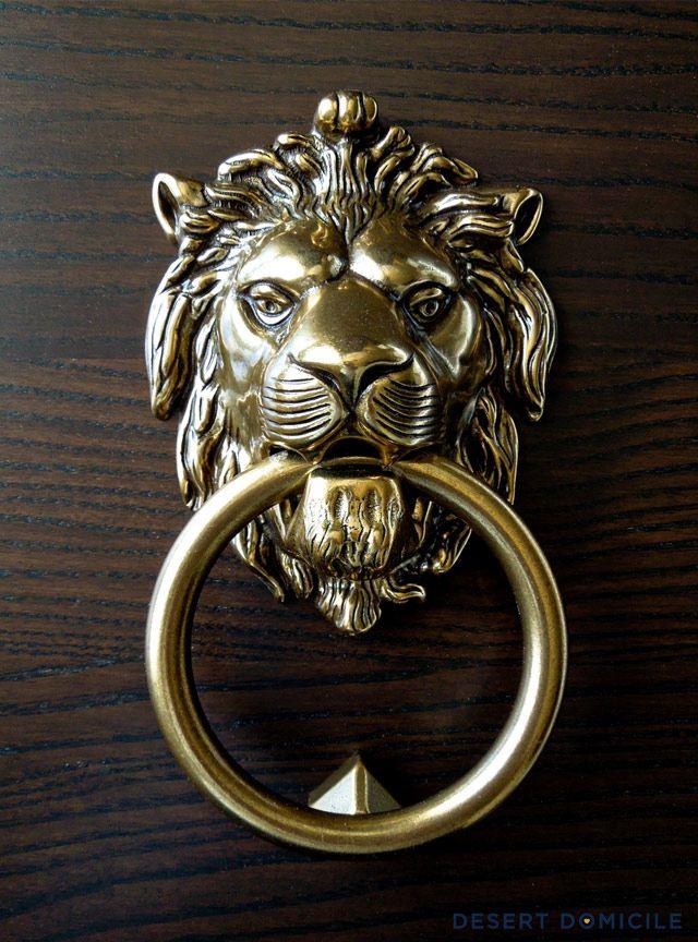 look for less lion head door knocker