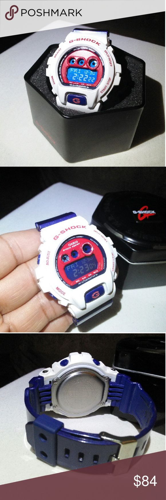 Red,White and Blue G Shock Watch Model# GD-X6900CS Water proof and shock proof LIKE NEW, WORN ONCE COMES WITH ORIGINAL CASE  AND TAG! VERY NICE COLLECTION PIECE! Casio Accessories Watches