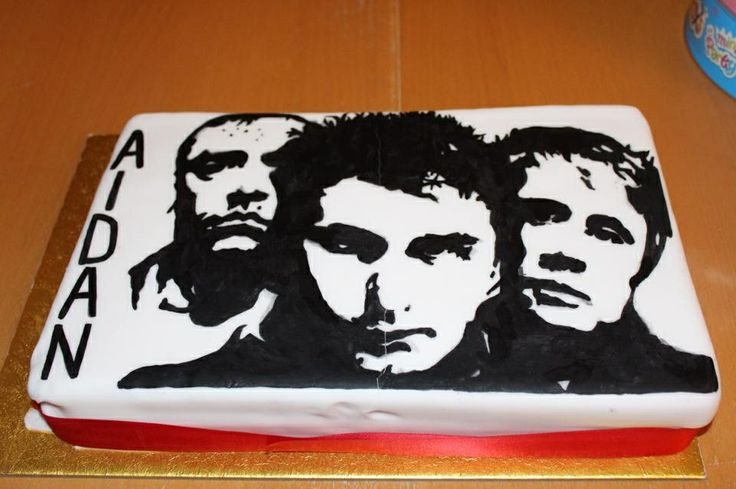 Muse Cake for 15 year old son last year , hand painted using food colouring paste ( we used an asda photo cake for the base of this cake as nice even surface to paint on )