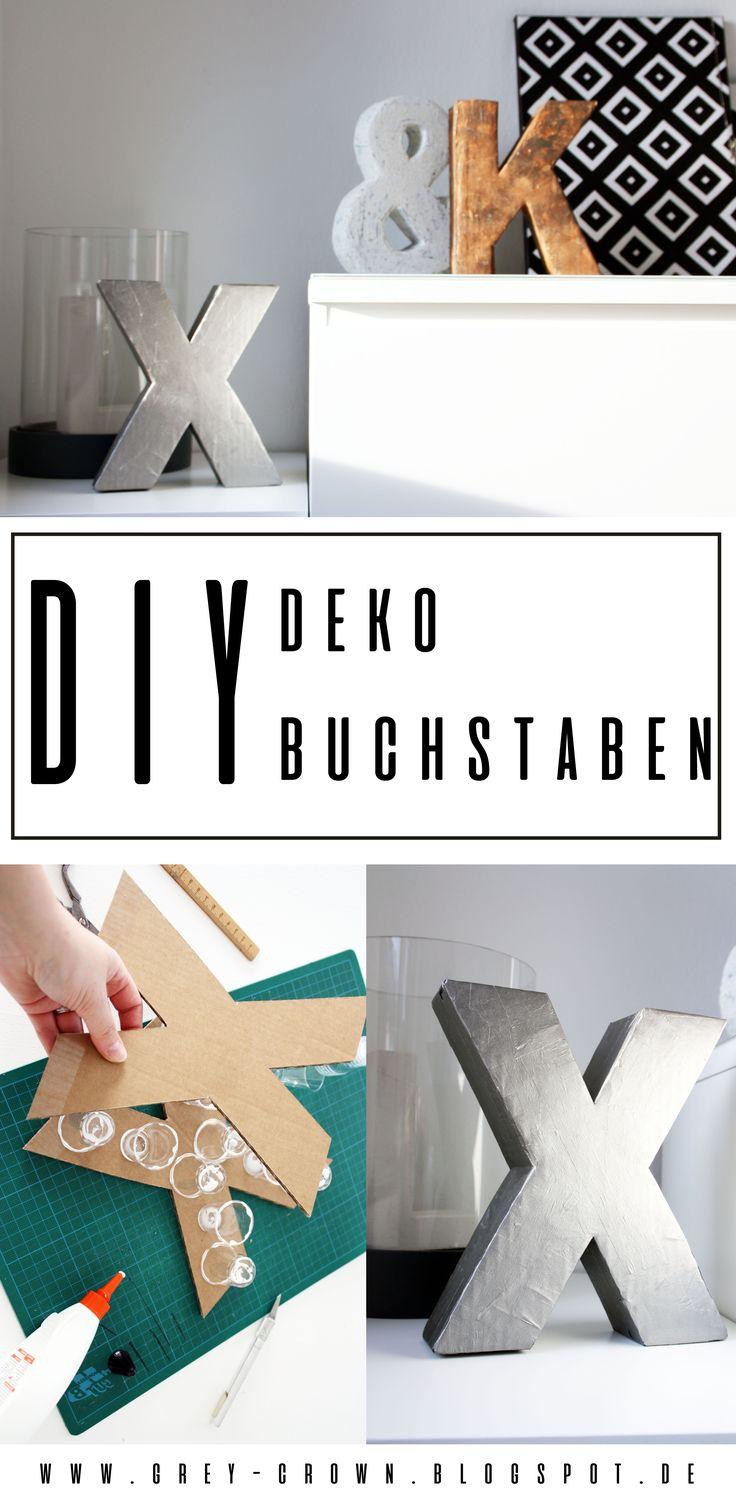 DIY Deko Buchstabe einfach und schnell selber machen Diy