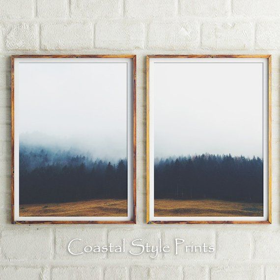 Enchanted Forest Wall Art Set Of 2 Prints Forest Print Etsy Forest Wall Art Target Wall Art Large Wall Art Bedroom