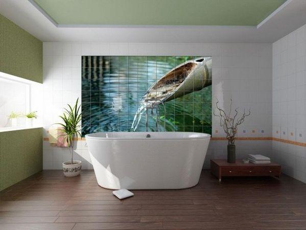 1000 ideas about zen bathroom decor on pinterest zen for Deco mural zen