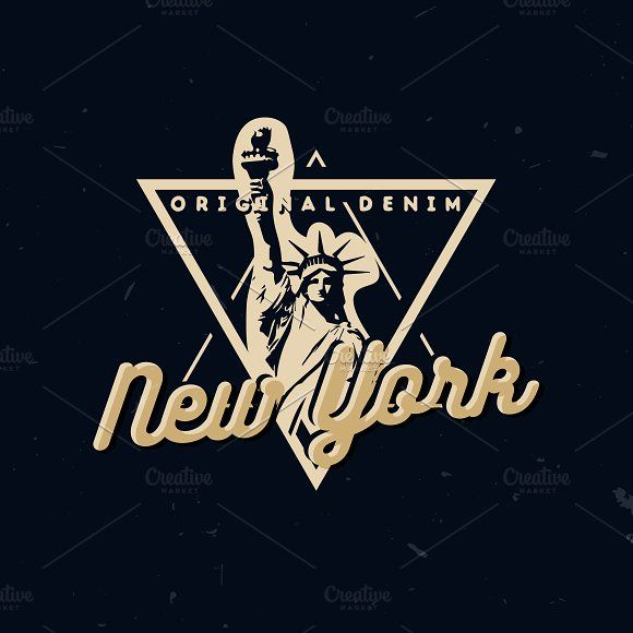 NYC T-SHIRT PRINTS (St of Liberty) by Roman Paslavskiy on @creativemarket