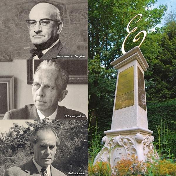 The Three Efteling Founding Fathers: Rein van der Heijden (mayor of Loon op Zand), Peter Reijnders (inventor and cineast) and Anton Pieck (illustrator)