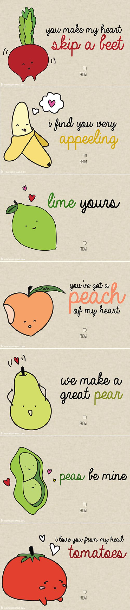 10 Printable V Day Cards With Food Puns So Bad Theyu0027re Almost Good. Happy  Valentines Day Quotes ...