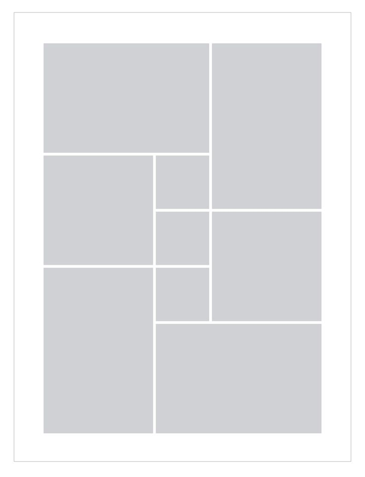 Fotocollage erstellen in 60x80 für 9 Bilder mit und ohne ...