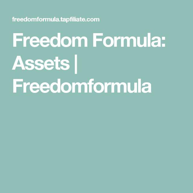 Freedom Formula: Assets | Freedomformula