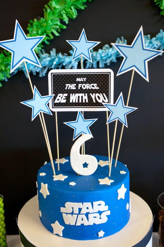 Star Wars Theme Printable Cake Topper Decor by PetitePartyStudio