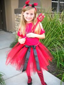 Last year my sweet 8 year old wanted to be a devil.  At about that time I was introduced to the world of TUTUS.  And oh my ...   So I decide...