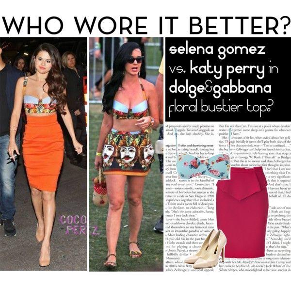 Selena Gomez vs. Katy Perry by mara-petcana on Polyvore