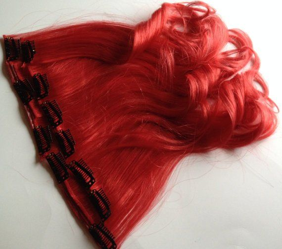 158 best fringe bangs clip in human hair extensions images on 18 inch bright red human hair clip in or tape hair extension set damnation hair pmusecretfo Choice Image