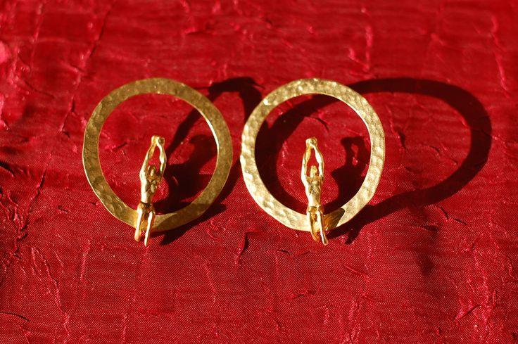 Handmade bronze earings