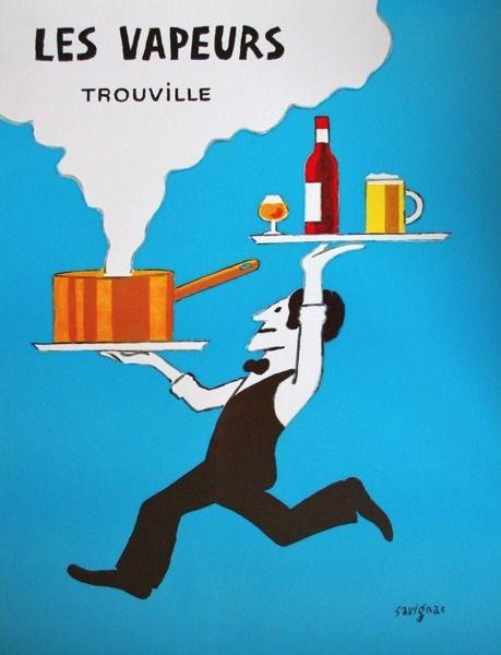 "Raymond Savignac ""LES VAPEURS"" - best moules!"