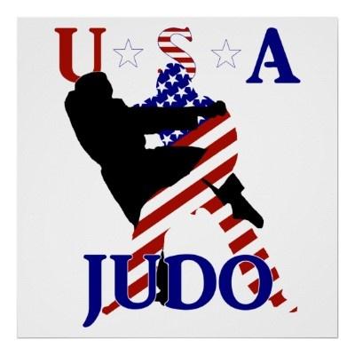 #USA #Judo Poster by #RedWhiteAndBlue1