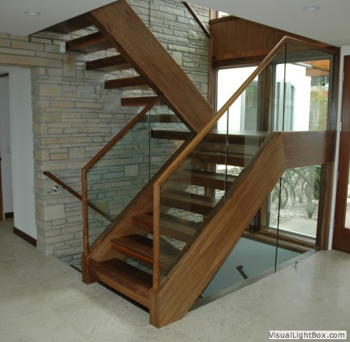 Neat modern/wood staircase