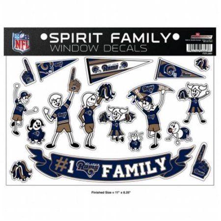 Rico Industries FSTL3001 Family Sticker Sheet - St Louis Rams