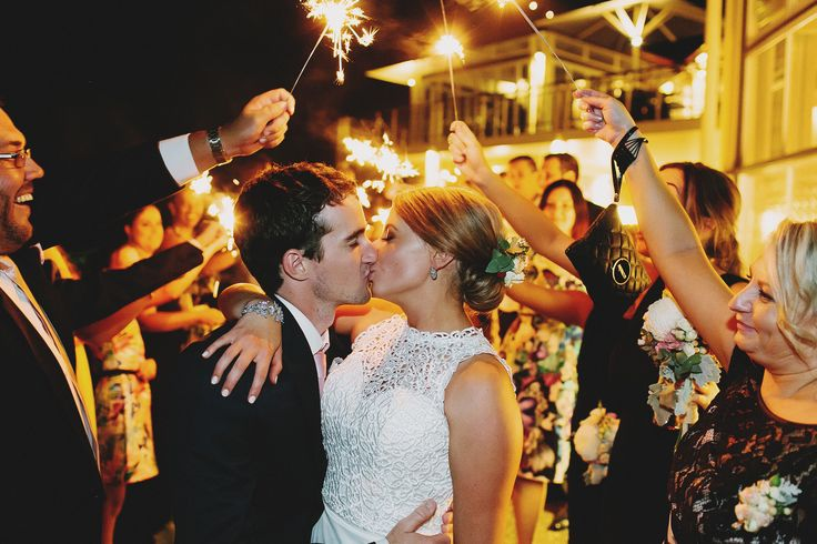 Wedding Reception. Sparkling Farewell. Sparklers. Bride and Groom. Kiss. Love. Photography by Juddric Photography. www.summerdean.com.au