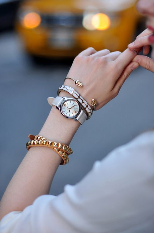 good arm candy combo: Arm Candy, Fashion, Arm Party, Style, Accessories, Watches, Arm Candies
