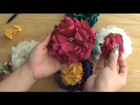 Handmade silk fabric flowers